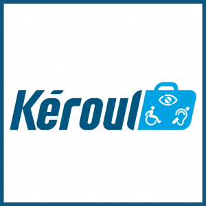 Logo Kéroul is a non-profit organization whose aim is to make tourism and culture accessible to people of restricted physical abilities.