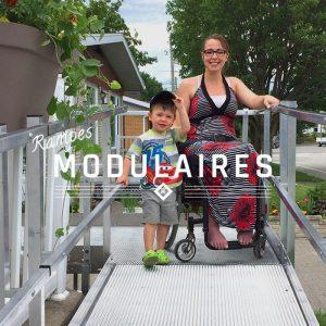 Photo : Rampe d'accès modulaire pour fauteuils roulants