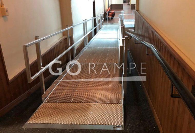 Modular access ramps for wheelchairs in a condo