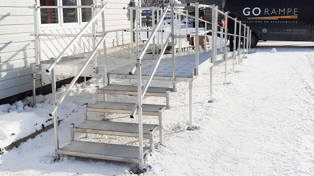 Rampes d'accès résidentielle pour personne à mobilité réduite à Saint-René-de-Matane