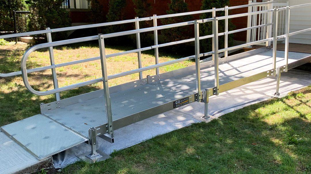 Rampes d'accès résidentielle pour personne à mobilité réduite à Sherbrooke
