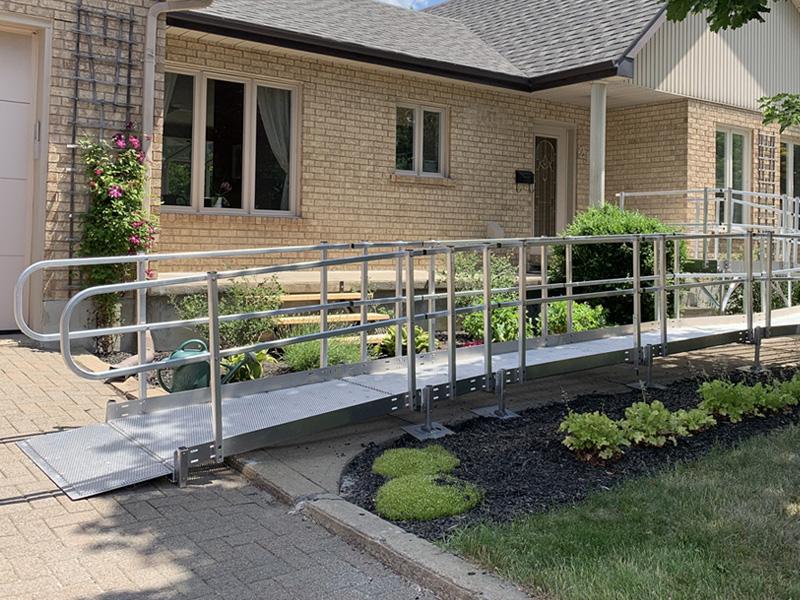 Rampe d'accès résidentielle modulaire